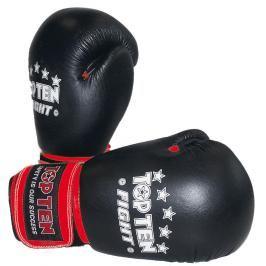 Boxerské rukavice Top Ten Fight - černá černá 10