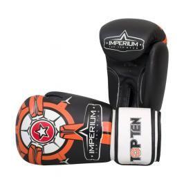 Boxerské rukavice Top Ten Imperium - černá/oranžová černá 10