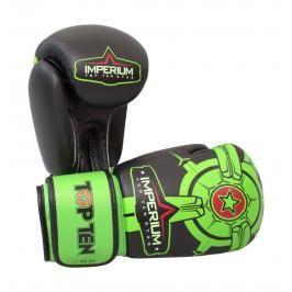 Boxerské rukavice Top Ten Imperium - černá/zelená černá 12