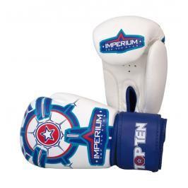 Boxerské rukavice Top Ten Imperium - bílá/modrá bílá 10