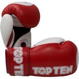 Boxerské rukavice Top Ten XLP WAKO - červená červená 10