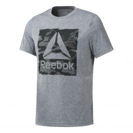 Reebok Camo Logo Triko šedé šedá XL