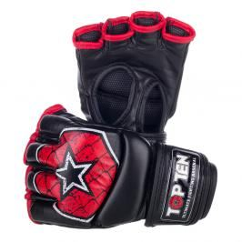 MMA Rukavice - TOP TEN MMA - OCTAGON-červená černá S