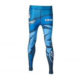 Top Ten MMA kompresní kalhoty Mohicans modrá XXS