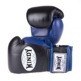 Boxerské rukavice Windy Proline - černá/modrá černá 10