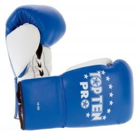 Boxerské rukavice Top Ten Pro - modrá/bílá modrá 10