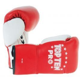 Boxerské rukavice Top Ten Pro - červená/bílá červená 8