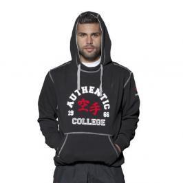 Mikina s kapucí HAYASHI - Authentic Karate College - černá černá L