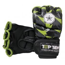 MMA Rukavice - TOP TEN MMA - Jungle - černá/zelená černá M