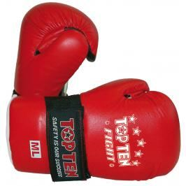 Otevřené rukavige Top Ten Fight - červená červená S/M