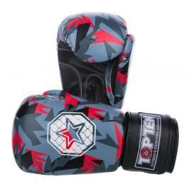 Boxerské rukavice Top Ten Jungle - černá/červená černá 12
