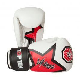 Boxerské rukavice Top Ten Vikings - bílá/červená bílá 12
