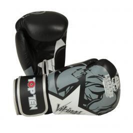 Boxerské rukavice Top Ten Vikings - černá/bílá černá 10