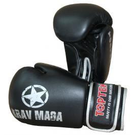 Boxerské rukavice Top Ten KRAV MAGA 12oz černá 10