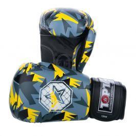 Boxerské rukavice Top Ten Jungle - černá/žlutá černá 10