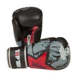 Boxerské rukavice Top Ten Vikings - černá/červená černá 10