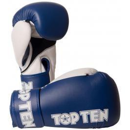 Boxerské rukavice Top Ten XLP - modrá/bílá modrá 10