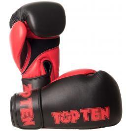 Boxerské rukavice Top Ten XLP - černá/červená černá 10