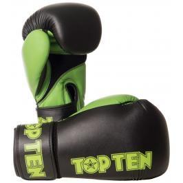 Boxerské rukavice Top Ten XLP - černá/zelená černá 10