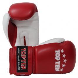 Top Ten boxerské rukavice NKII - červené červená 10