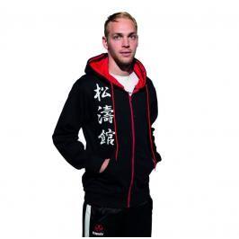 Hayashi mikina s kapucí Shotokan Karate kanjin černá M