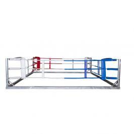 Tréninkový volně stojící boxerský ring - 905 ocel 4.5x4.5m, 3 provazy