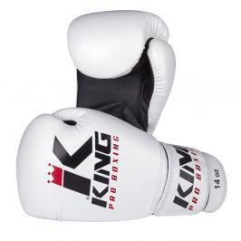 Boxerské rukavice King - bílá/černá bílá 10