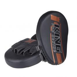 King Pro Boxing velké boxerské lapy - černá/bronzová černá