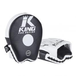 King Pro Boxing malé boxerské lapy - černá/bílá černá