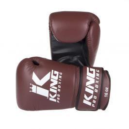 King Pro Boxing boxerské rukavice - hnědá/černá hnědá 10