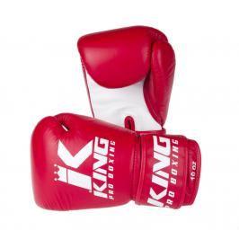 King Pro Boxing boxerské rukavice - červená/bílá červená 10