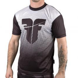 Tréninkové triko Fighter - Bílá černá XXL