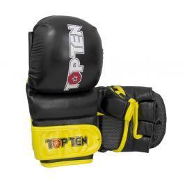 Rukavice Top Ten MMA Striking - černá/žlutá černá S