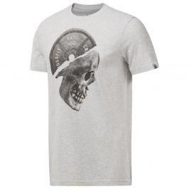 Reebok CrossFit Skull triko šedá L