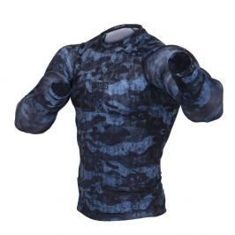 Rash guard Fighter - Urban Camo -modrá modrá S