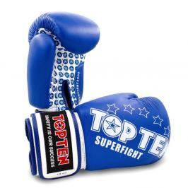 Boxerské rukavice Top Ten Superfight Stars - modrá/bílá modrá 10