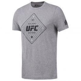 Reebok Triko UFC - šedá šedá M