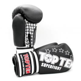 Boxerské rukavice Top Ten Superfight Stars - černá/bílá černá 10