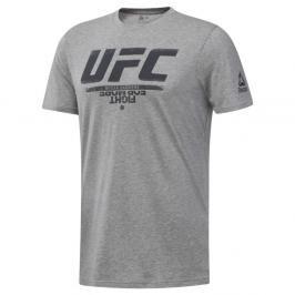 Reebok triko UFC logo - šedá šedá S