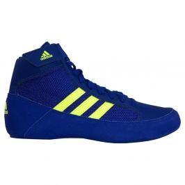Dětská zápasnická obuv adidas HVC - modrá/neon modrá 3