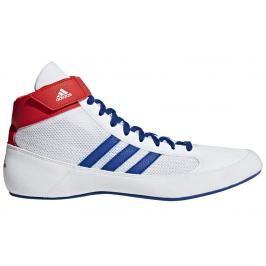 Zápasnická obuv adidas HVC - bílá/modrá/červená bílá 10