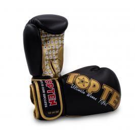 Boxerské rukavice Top Ten Women Fight - černá/zlatá černá 10