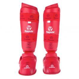 Chrániče holení a nártů Hayashi WKF - červená červená M