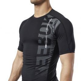 Reebok Graphic kompresní triko - černá černá S