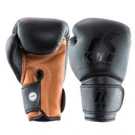 King Pro Boxing boxerské rukavice - černá/hnědá černá 16