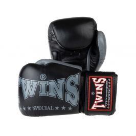 Boxerské rukavice Twins - černá/šedá černá 14