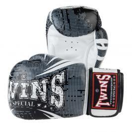 Boxerské rukavice Twins Fantasy1 - černá/bílá černá 10