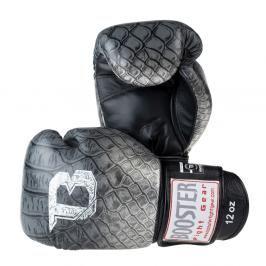 Boxerské rukavice Booster Snake - černá/stříbrná černá 10