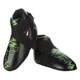 Chrániče nohou Fighter Heartbeat - černá/zelená černá S