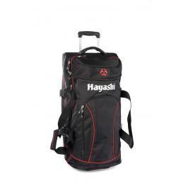 Cestovní taška Hayashi na kolečkách - černá/červená černá L